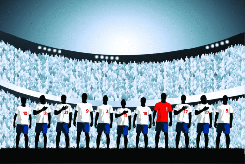 Soccer starting line up