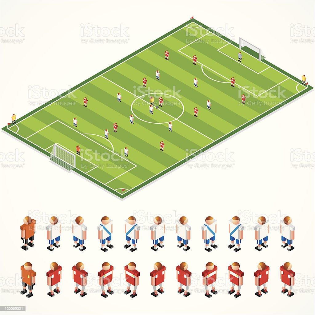Estratégia Kit de futebol - ilustração de arte em vetor