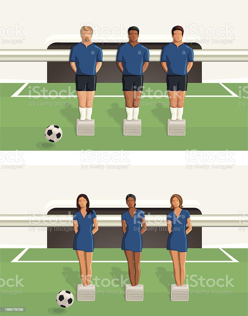 Équipe de football :  baby-foot - Illustration vectorielle
