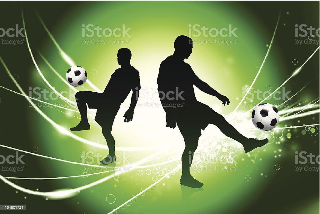Soccer Team on Fiber Optic Background royalty-free stock vector art