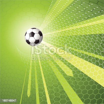 istock Soccer themed background image 165748547
