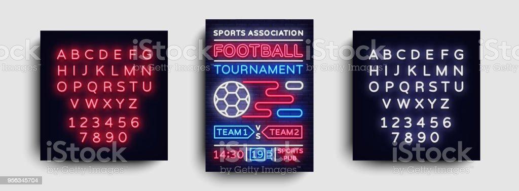 Soccer Tournament Flyer Vector European Football Championship Poster