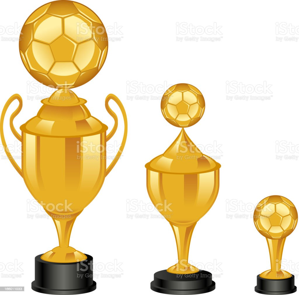 Soccer trophies royalty-free stock vector art