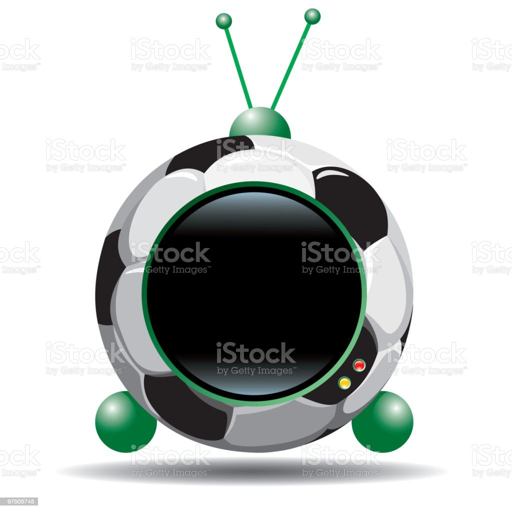 Soccer  tv royalty-free soccer tv stock vector art & more images of antenna - aerial