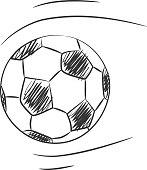Soccer vector hand drawn line art icon art illustration