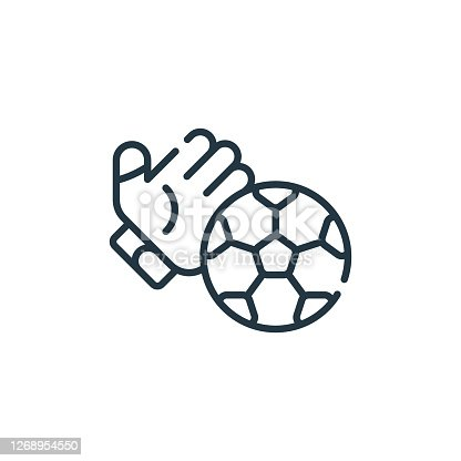 istock soccer vector icon isolated on white background. Outline, thin line soccer icon for website design and mobile, app development. Thin line soccer outline icon vector illustration. 1268954550