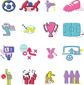 The vector files of soccer icon set.