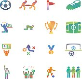 The vector file of soccer icon set.