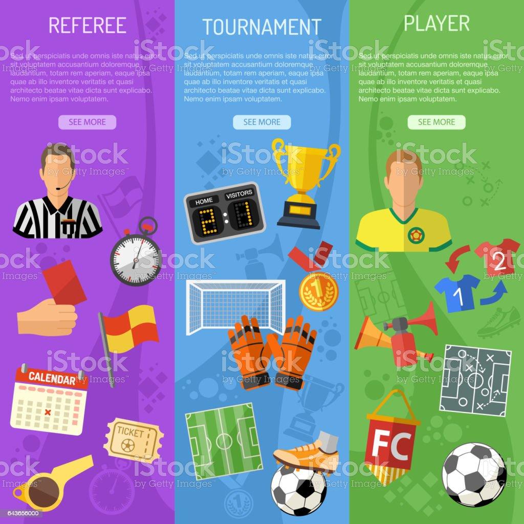 Soccer vertical Banners - ilustración de arte vectorial