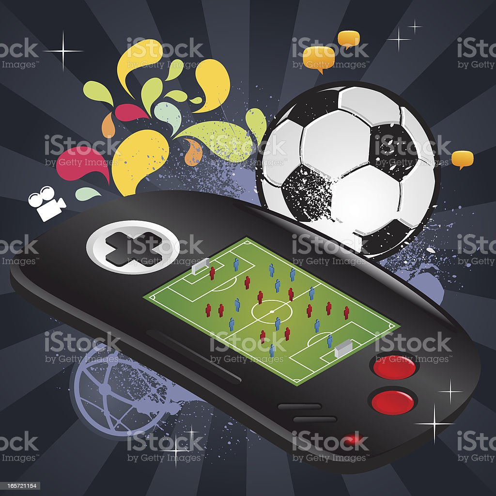 Soccer video game royalty-free soccer video game stock vector art & more images of aerial view