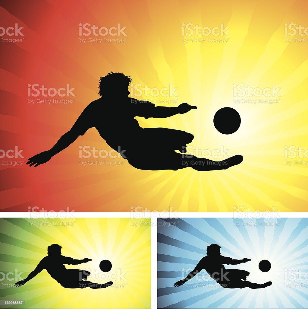 Soccer volley vector art illustration