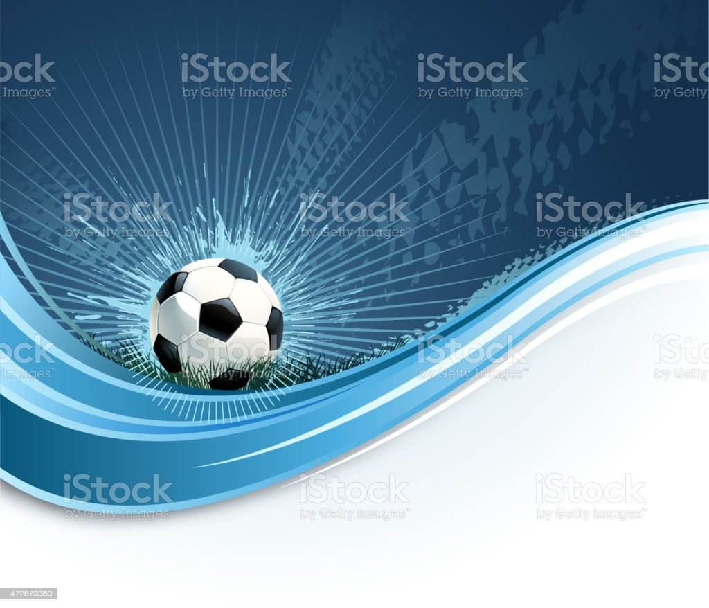 soccer wave vector art illustration