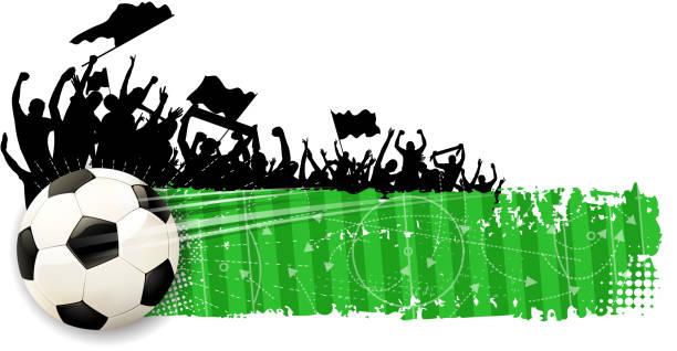 fußball gewinnen spaß banner - aerial overview soil stock-grafiken, -clipart, -cartoons und -symbole