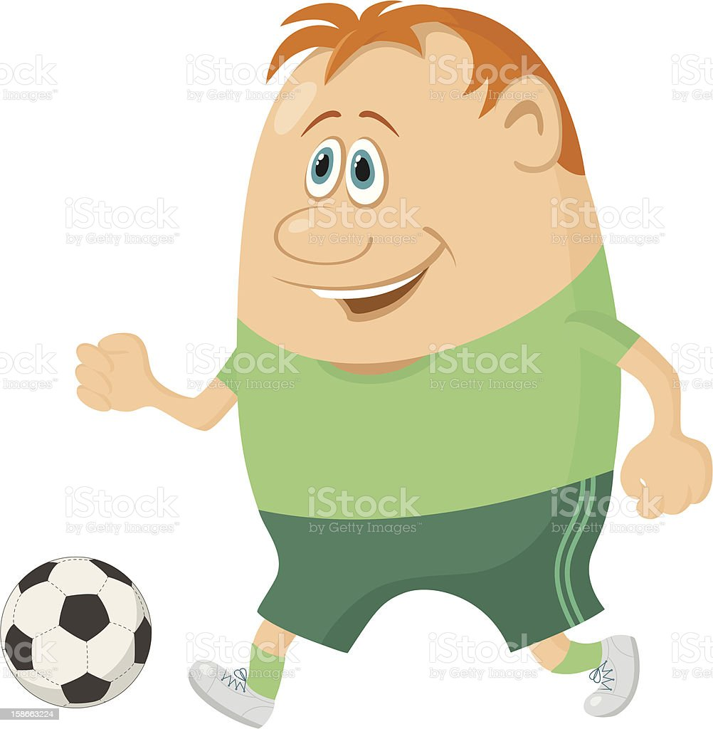 Soccer with ball royalty-free stock vector art