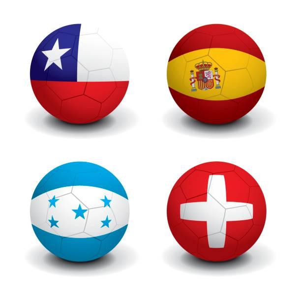 ilustraciones, imágenes clip art, dibujos animados e iconos de stock de copa mundial de fútbol 2010: grupo h - bandera de chile