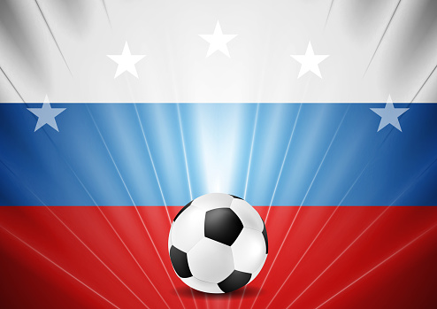 Soccer World Cup 2018 in Russia abstract background