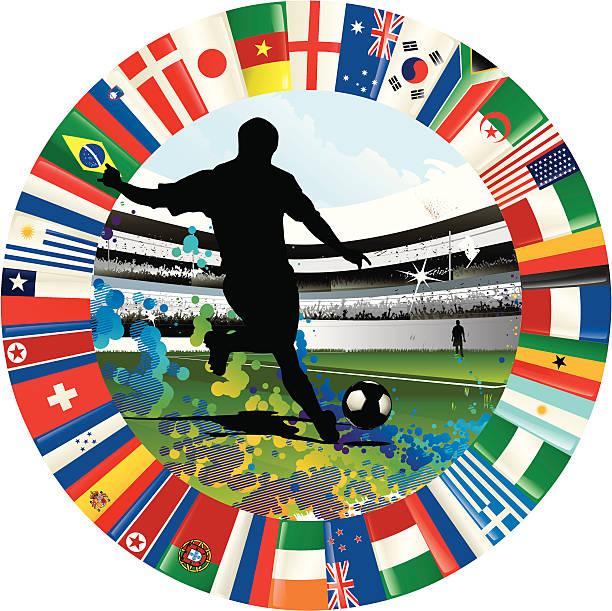 Copa mundial de fútbol emblema - ilustración de arte vectorial