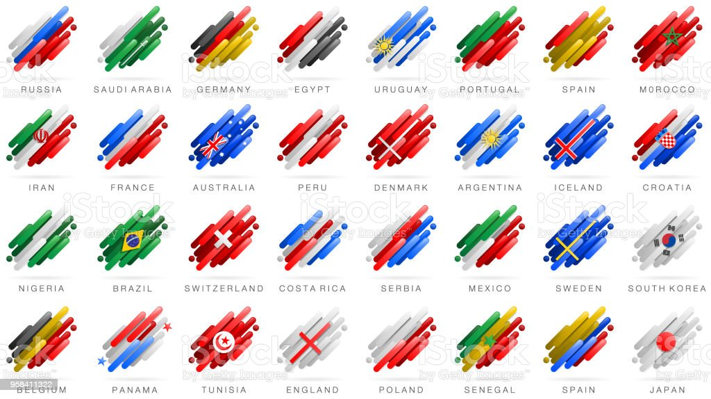 Soccer world flags abstract royalty-free soccer world flags abstract stock illustration - download image now