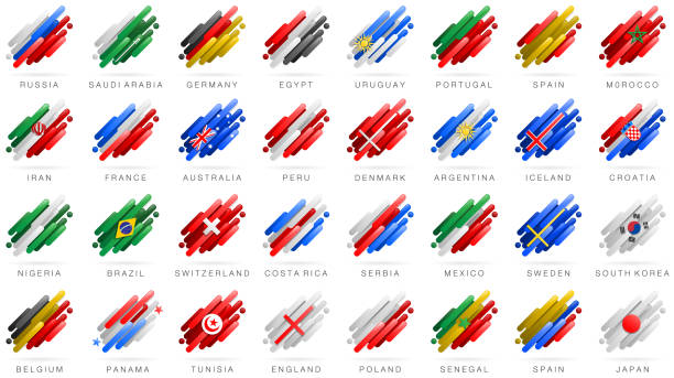 Soccer World Flags abstrakt – Vektorgrafik