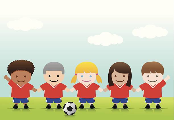 Best Kids Soccer Team Illustrations, Royalty-Free Vector ...