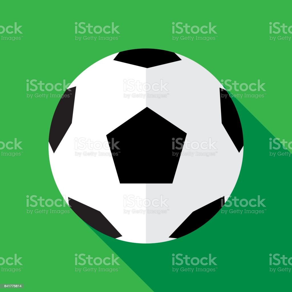 Soccerball icône plate - Illustration vectorielle