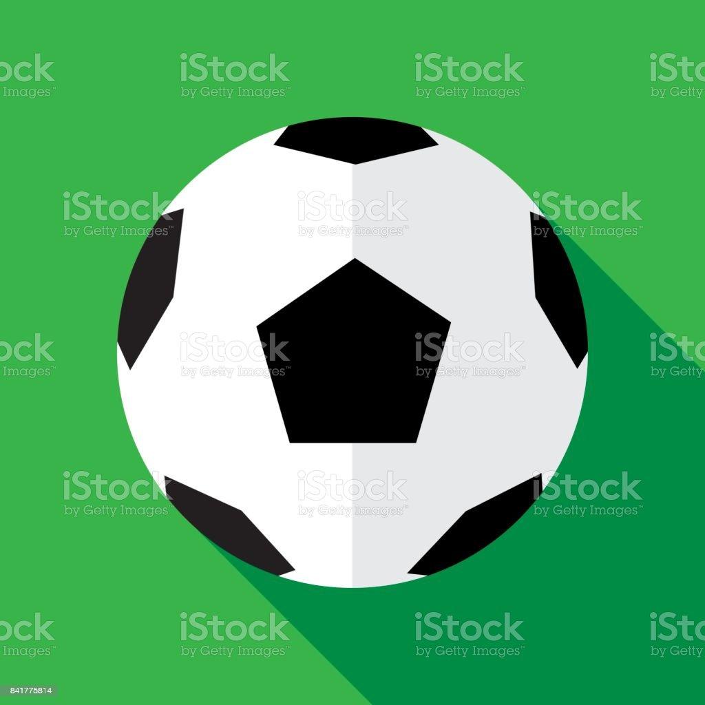 Soccerball icono plana - ilustración de arte vectorial