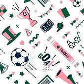 Soccer/football seamless pattern