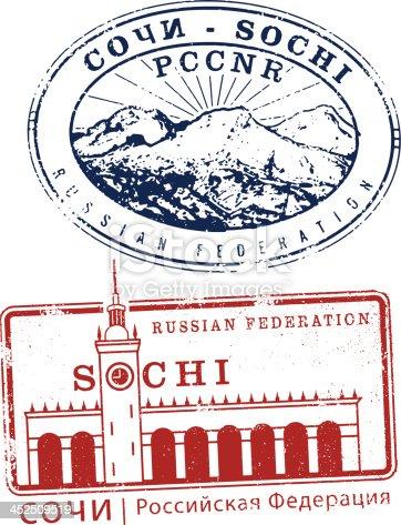 istock Sochi Russia Travel Stamps 452509519