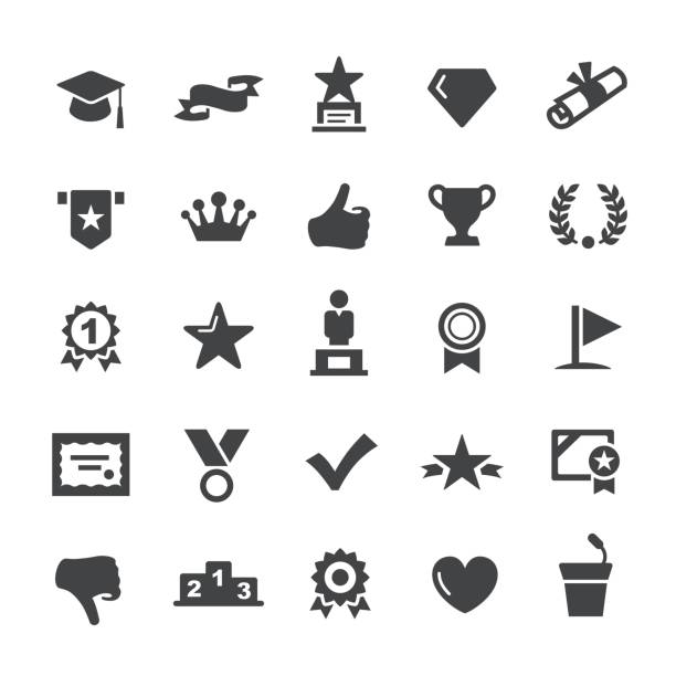 Social Achievement Icons - Smart Series vector art illustration