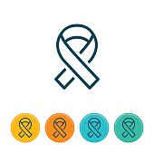 Social Awareness Ribbon Icon