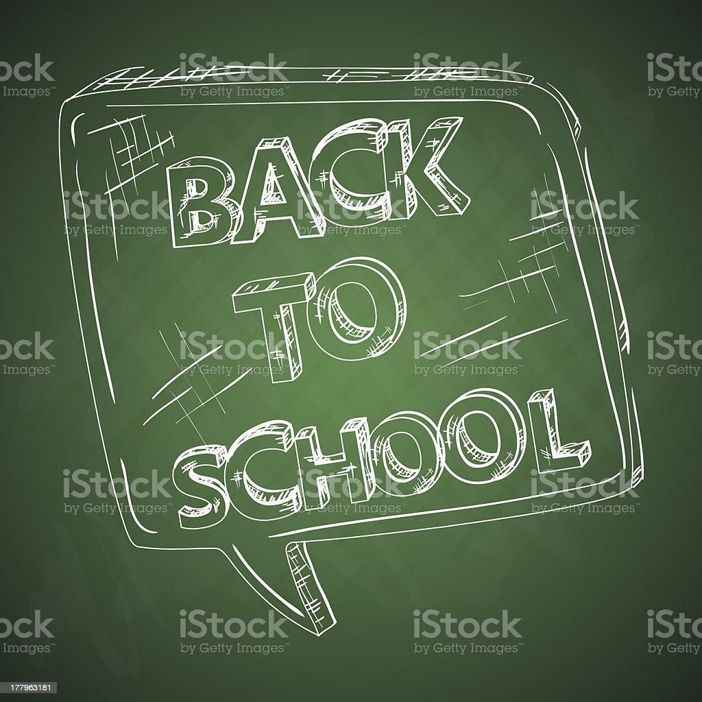 Social Back to school royalty-free stock vector art