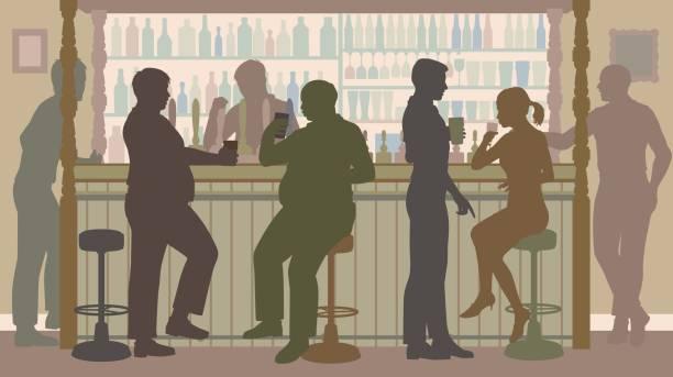 social bar - bartender stock illustrations, clip art, cartoons, & icons
