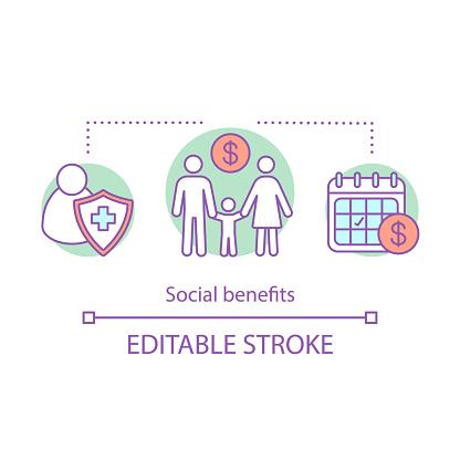 Social benefits concept icon