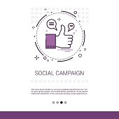 Social Campaign Management Business Content Information Web Banner With Copy Space