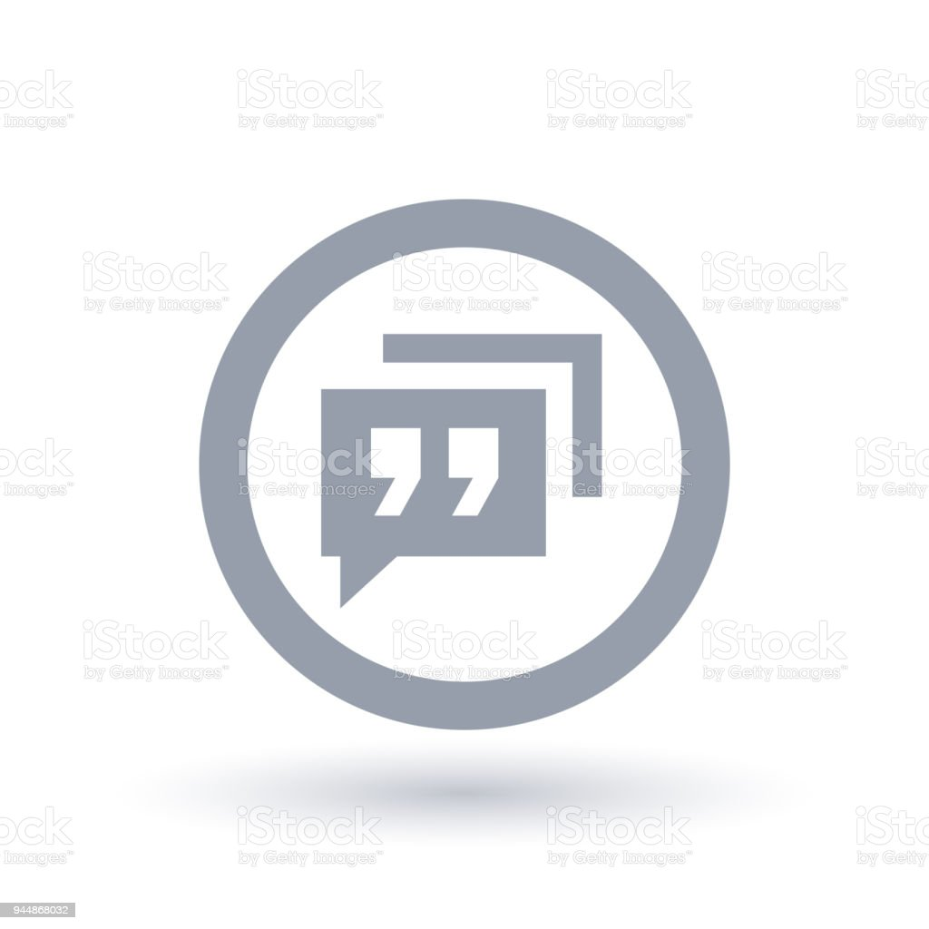 Social Chat Icon App Speech Quote Symbol Stock Vector Art More