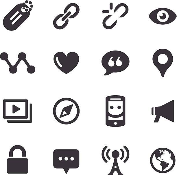 soziale kommunikation icon-acme series - miteinander verbunden stock-grafiken, -clipart, -cartoons und -symbole