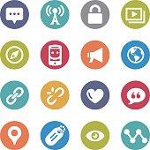 Social Communication Icons - Circle Series