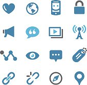 Social Communication Icons - Conc Series