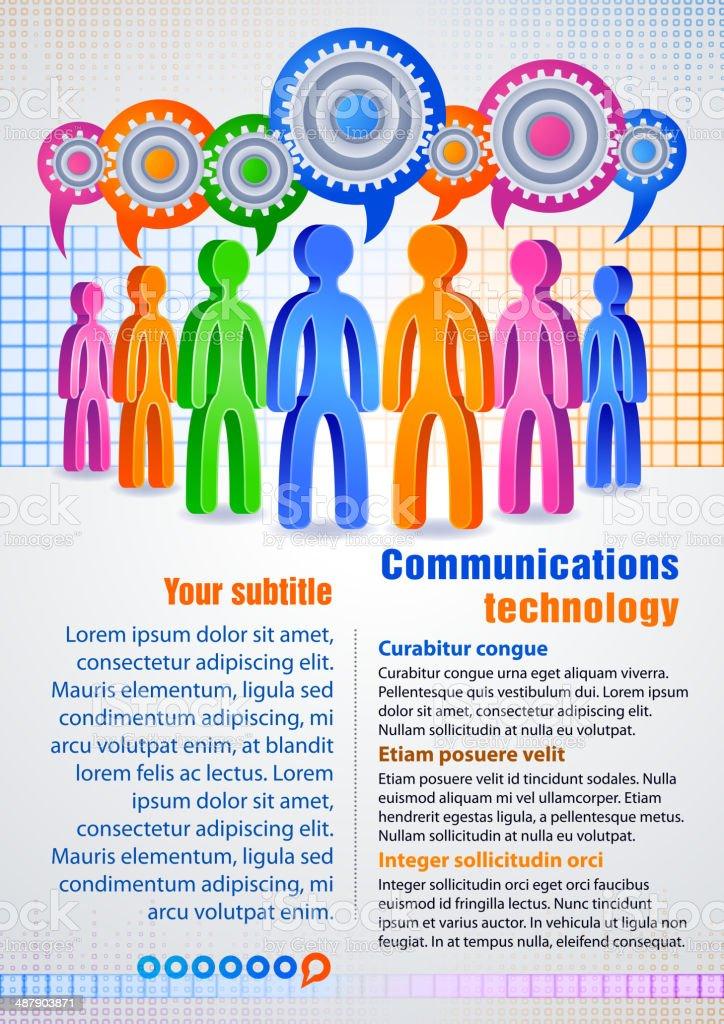 Social communication royalty-free stock vector art