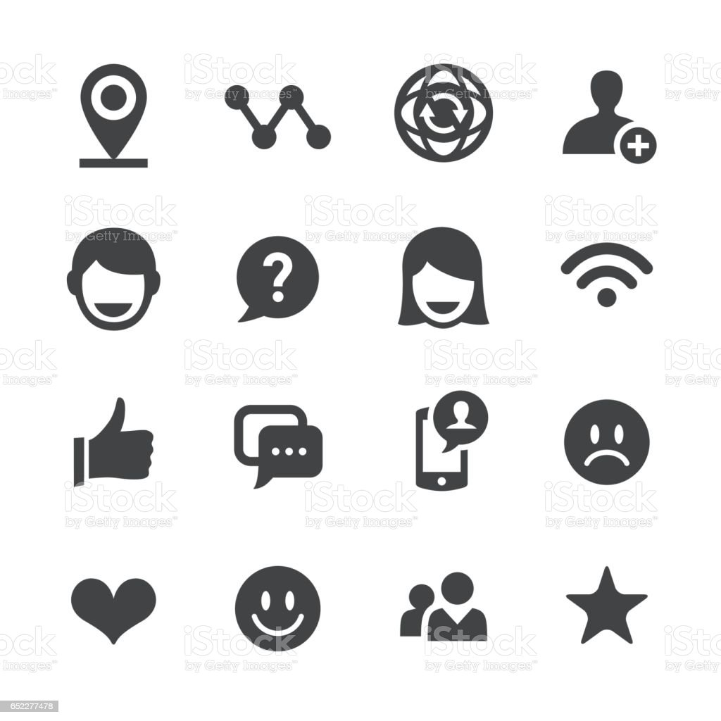Soziale Kommunikation Icons - Acme-Serie – Vektorgrafik