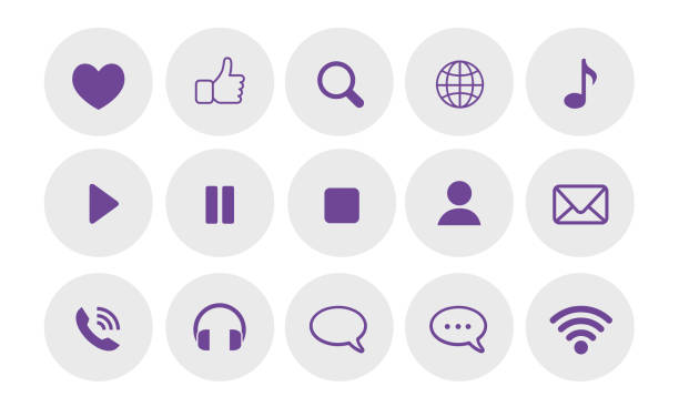 Social Communications Icons Social Communications Icons infamous stock illustrations