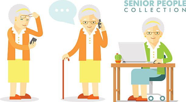 Royalty Free Old Telephone Clip Art, Vector Images ... Old Lady On Cell Phone Clip Art