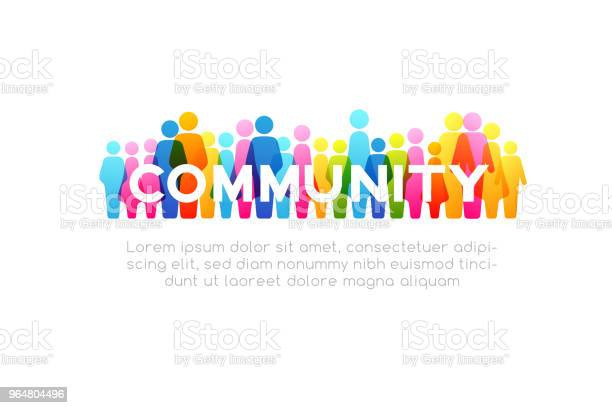 Social Concept Vector Horizontal Decoration Element From Colorful People Icons Stock Illustration - Download Image Now