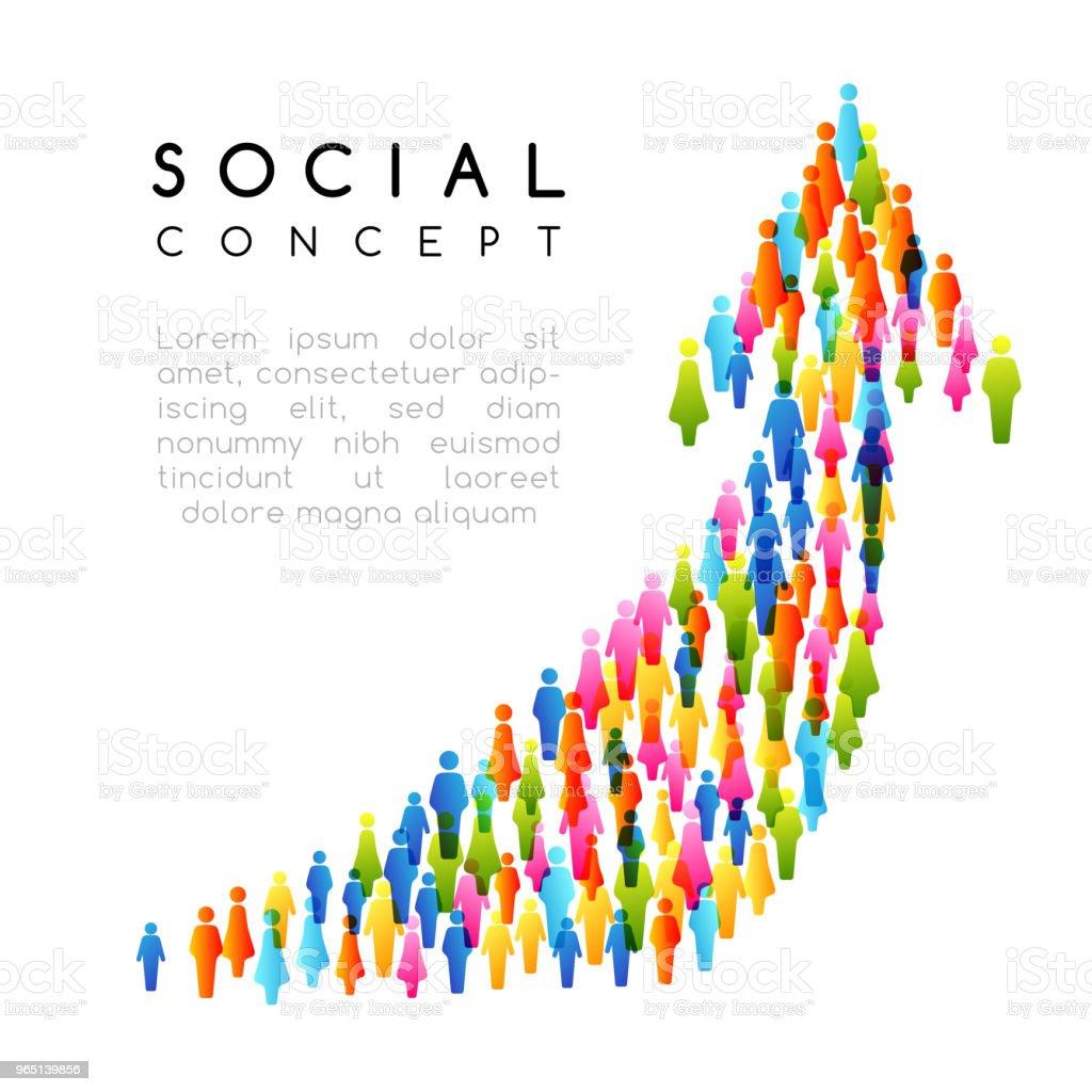 Social concept. Vector illustration with arrow sign with people social concept vector illustration with arrow sign with people - stockowe grafiki wektorowe i więcej obrazów biznes royalty-free