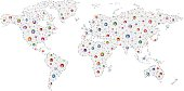 Social concept world network.