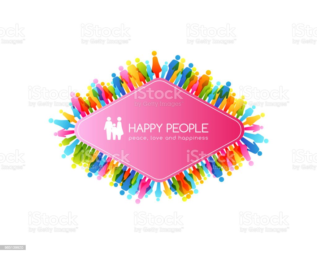 Social conceptual illustration. Rhombus frame with border from colorful people icons. royalty-free social conceptual illustration rhombus frame with border from colorful people icons stock vector art & more images of adult