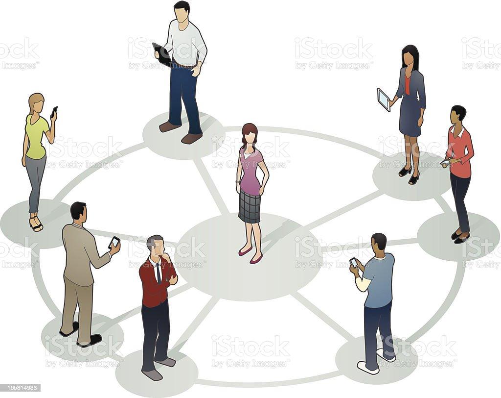 Social Contacts Illustration vector art illustration