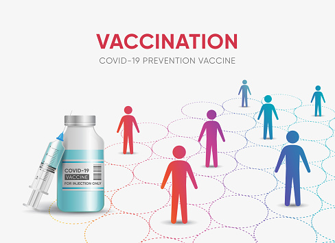 Social distancing and vaccination
