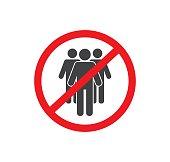 Social Distancing. Avoid crowds sign. Coronovirus epidemic protective. Vector illustration
