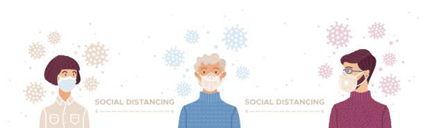 ilustrações de stock, clip art, desenhos animados e ícones de social distancing during outbreak of the coronavirus - covid hair